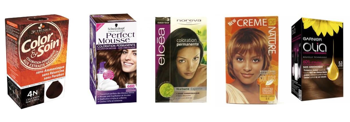 Coloration cheveux temporaire sans ammoniaque