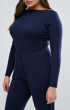 Combi bleue curve buste